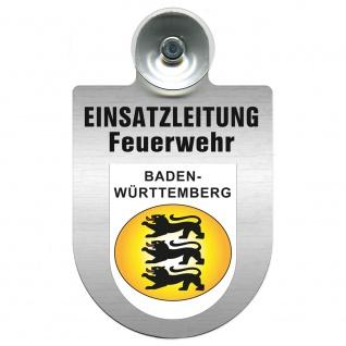Einsatzschild Windschutzscheibe incl. Saugnapf - Einsatzleitung Feuerwehr - 309476 Region Baden-Württemberg