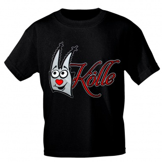 T-Shirt Karneval Fasching mit Print - KÖLLE - 10595 schwarz Gr. M
