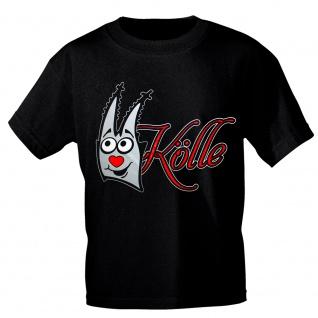 T-Shirt Karneval Fasching mit Print - KÖLLE - 10595 schwarz Gr. S