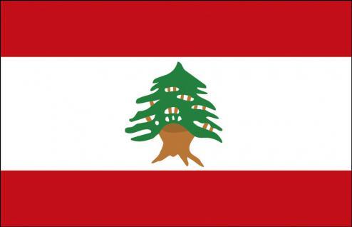 Stockländerfahne - Libanon - Gr. ca. 40x30cm - 77092 - Schwenkflagge Länderflagge