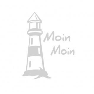 Auto-Aufkleber - Leuchtturm Moin Moin - 302979 Gr. 8, 5cm x 10, 5cm versch. Farben silber