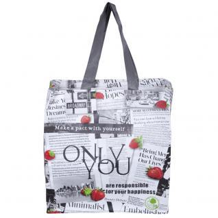 PP-Woven-Tasche - Allover-Motiv- Newspaper - 26281 - Shopper Einkaufstasche