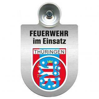 Einsatzschild Windschutzscheibe incl. Saugnapf - Feuerwehr im Einsatz - 309355 - Region Thüringen