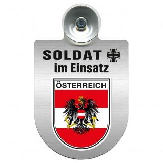 Einsatzschild Windschutzscheibe incl. Saugnapf - Soldat im Einsatz - 309392 - Region Österreich