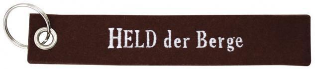 Filz-Schlüsselanhänger mit Stick Held der Berge Gr. ca. 17x3cm 14194 rostrot