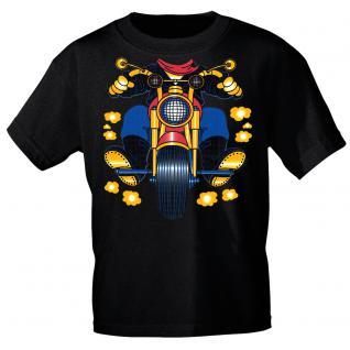 Kinder Marken-T-Shirt mit Motivdruck in 13 Farben Motorrad K12780 schwarz / 110/116