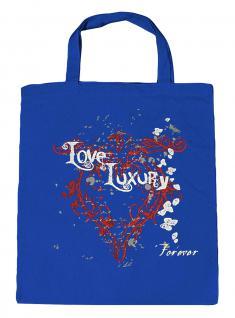 (U10835)Umweltfreundliche Baumwoll - Tasche , ca. 28 x 43 cm mit Aufdruck in 7 Farben blau