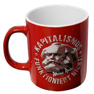 Motivtasse Tasse mit Print Kapitalismus Funktioniert Nicht 57321