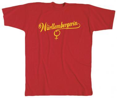 T-Shirt unisex mit Print - Württembergerin - 10514 rot - Gr. XL
