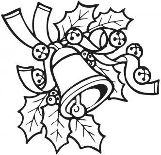 Wandtattoo Dekorfolie Weihnachtsglocke WD0801 schwarz / 120cm
