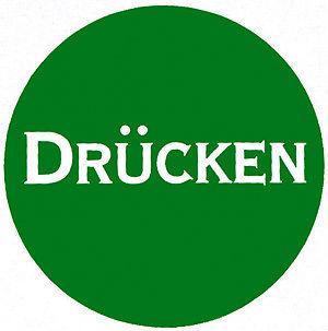 Hinweisschild - DRÜCKEN - Durchmesser 70 mm - 308013 - Firma Laden Geschäft