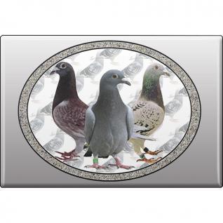 Kühlschrankmagnet - Vogel Tauben - Gr. ca. 8 x 5, 5 cm - 38210 - Magnet Küchenmagnet