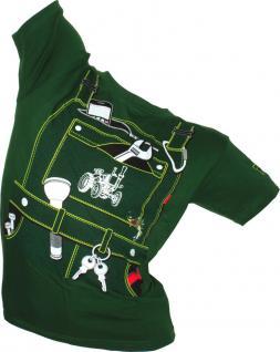 Kinder-T-Shirt mit Print - Handwerker - 12794 grün Gr. 122/128