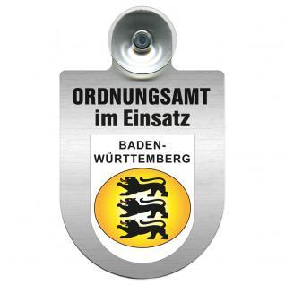 Einsatzschild Windschutzscheibe incl. Saugnapf - Ordnungsamt im Einsatz - 309400-1 Region Baden-Württemberg