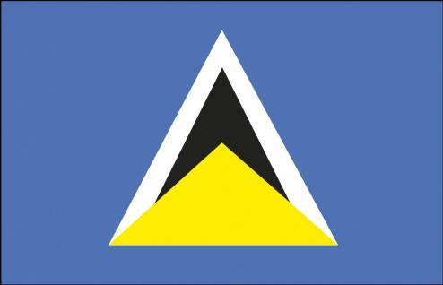 Stockländerfahne - St.Lucia - Gr. ca. 40x30cm - 77157 - Länderfahne, Dekoflagge, Hissfahne