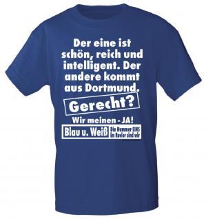 T-Shirt mit Print - der eine ist reich.... - 09562 - Gr. S