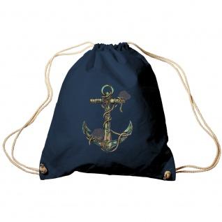 Sporttasche Turnbeutel Trend-Bag Print Maritim Anker Anchor TB10987 Navy