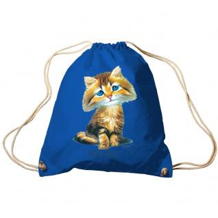 Trendbag Sporttasche Turnbeutel Print Katze Cat Who me? - 65141 versch. Farben