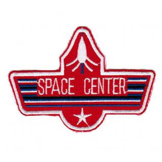 AUFNÄHER - Raumfahrt -Space Center - 00705 - Gr. ca. 10 x 7, 5 cm - Patches Stick Applikation