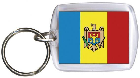 Schlüsselanhänger Anhänger - MOLDAWIEN - Gr. ca. 4x5cm - 81109 - Keyholder WM Länder