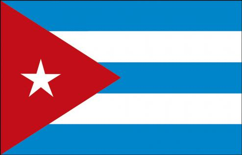 Stockländerfahne - Kuba - Gr. ca. 40x30 cm - 77088 - Schwenkflagge