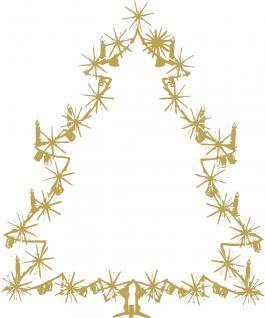 """Wandtattoo/ Dekorfolie mit Motiv """" Christbaum"""" Ø 90cm Länge max.100 cm, in 11 Farben WD0810 gold"""