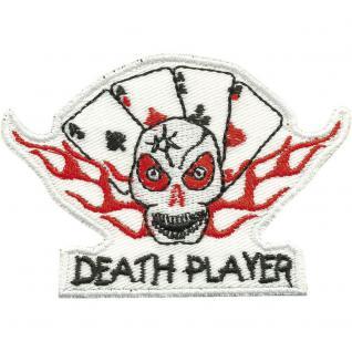 Aufnäher - Kartenspiel Death Player - 04481 - Gr. ca. 8, 5cm x 6cm