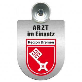 Einsatzschild Windschutzscheibe incl. Saugnapf - Arzt im Einsatz - 309352 Region Bremen