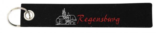 Filz-Schlüsselanhänger mit Stick - Regensburg - Gr. ca. 17x3cm - 14221