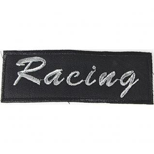 Aufnäher - Racing - 04678 - Gr. ca. 11, 5 x 4cm - Patches Stick Applikation