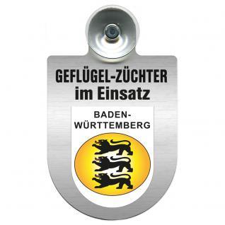 Einsatzschild Windschutzscheibe incl. Saugnapf - Geflügelzüchter im Einsatz - 309362-1 Region Baden-Württemberg