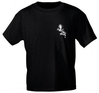 T-Shirt mit zweiseitigem Motivdruck - Tribal Drache - 09894 schwarz - Gr. M