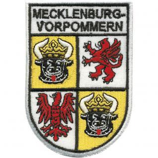 AUFNÄHER - Mecklenburg Vorpommern - 00446 - Gr. ca. 6 x 8, 5 cm - Patches Stick Applikation