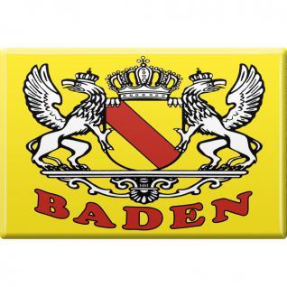 Kühlschrankmagnet - Wappen Baden - Gr. ca. 8 x 5, 5 cm - 38721 - Küchenmagnet