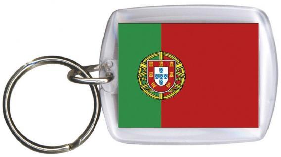 Schlüsselanhänger - PORTUGAL - Gr. ca. 4x5cm - 81133 - Keyholder Flagge Anhänger WM Länder