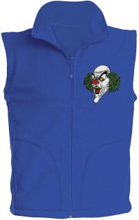 (11536) Karneval Fleece-Weste mit Brust- und Rückenstick, Gr. S- XXL in 4 Farben blau / XL