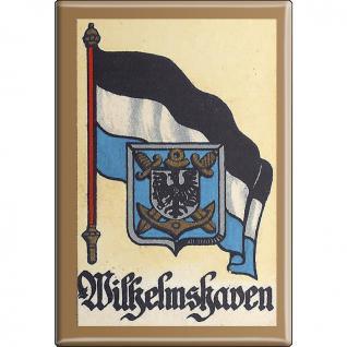 Kühlschrankmagnet - Wappen Wilhelmshaven - Gr. ca. 8 x 5, 5 cm - 37552 - Magnet Küchenmagnet