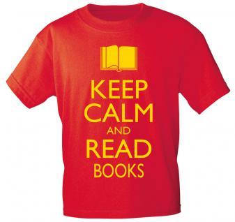 T-SHIRT unisex mit Motivdruck - Keep calm and read books - 12902 - Gr. L