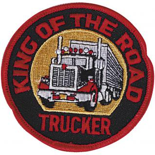 Aufnähe - King of the Road - Trucker - 04292 - Gr. ca. 8 cm - Patches Stick Applikation