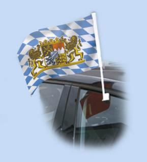 Autofahne Fahne Flagge 30 x 40 cm - Wappen Bayern - 07573