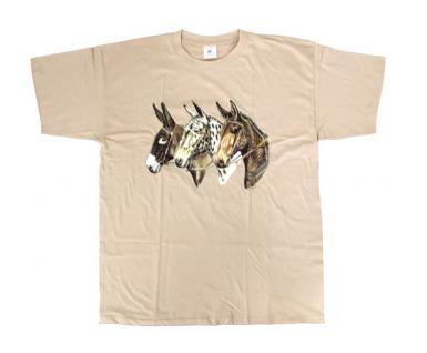 "(TW153) T Shirt "" 3 Esel"" L"
