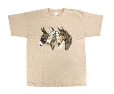 """(TW316) Kinder T Shirt """" 3 Esel"""" 122/128"""
