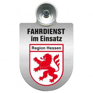 Einsatzschild Windschutzscheibe incl. Saugnapf - Fahrdienst im Einsatz - 309458 Region Hessen