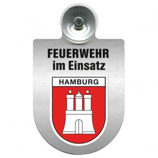 Einsatzschild Windschutzscheibe - Feuerwehr - incl. Regionen nach Wahl - 309355 Hamburg