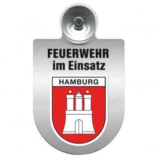 Einsatzschild Windschutzscheibe incl. Saugnapf - Feuerwehr im Einsatz - 309355 - Region Hamburg
