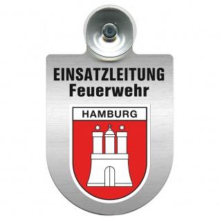 Einsatzschild Windschutzscheibe incl. Saugnapf - Einsatzleitung Feuerwehr - 309476 Region Hamburg