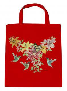 (U06996)Umweltfreundliche Baumwoll - Tasche , ca. 28 x 43 cm mit Aufdruck in 7 Farben rot