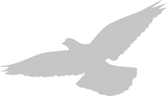 Aufkleber Applikation - Taube - AP1422 - silber / 15cm