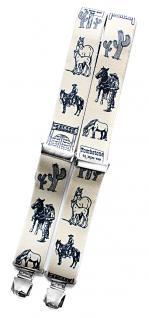 Hosenträger mit Print - Esel - 06879