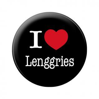 Magnet - I love Lenggries - Gr. ca. 5, 7 cm - 16049 - Küchenmagnet
